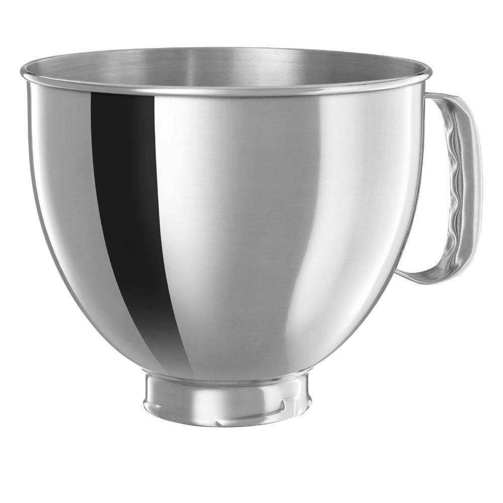 Kitchenaid 5 qt polished stainless steel bowl with