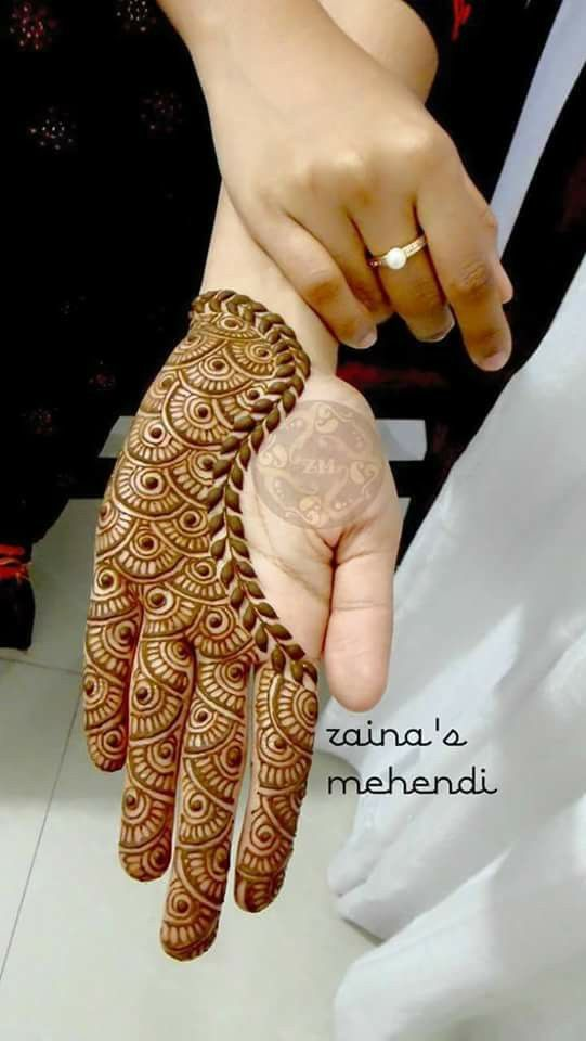 Simple and beautiful mahendi design tipwap nusi mehndi designs front hand henna palm also pinterest rh