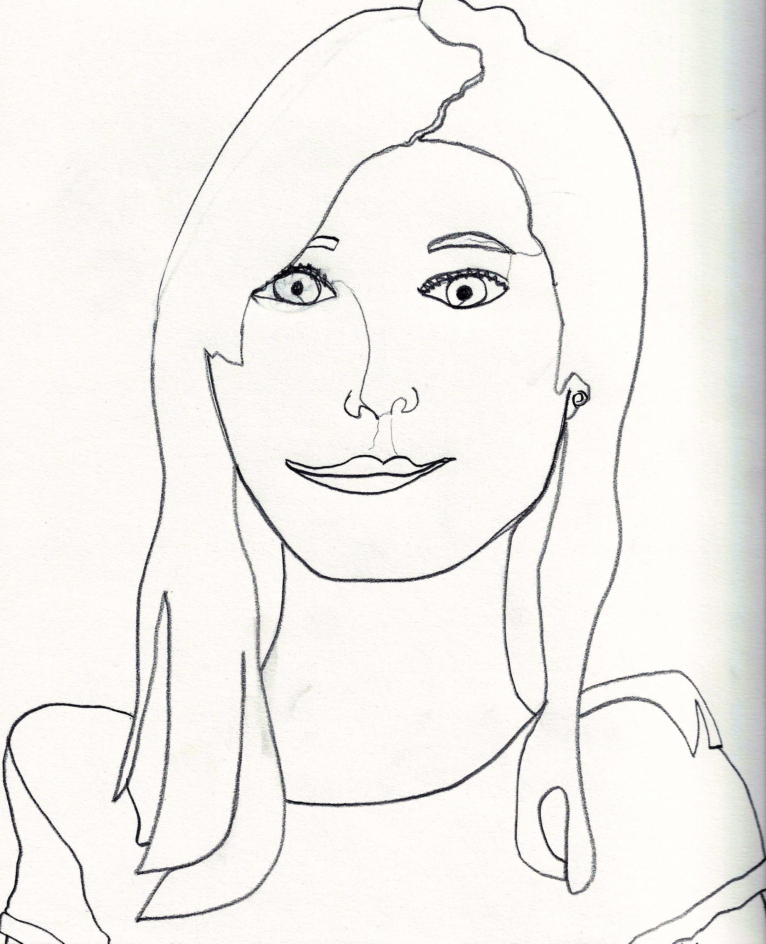Teachertube Contour Line Drawing : One line contour drawing self portrait contours