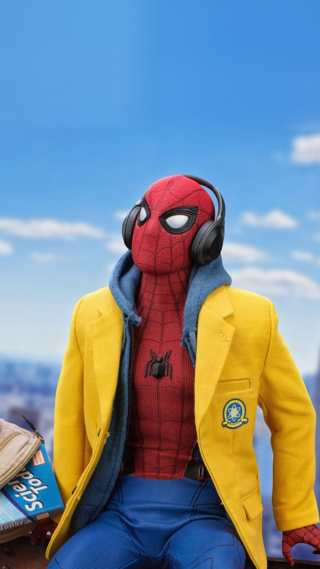Listening Songs Toy Arts Spider Man 1080x1920 Wallpaper
