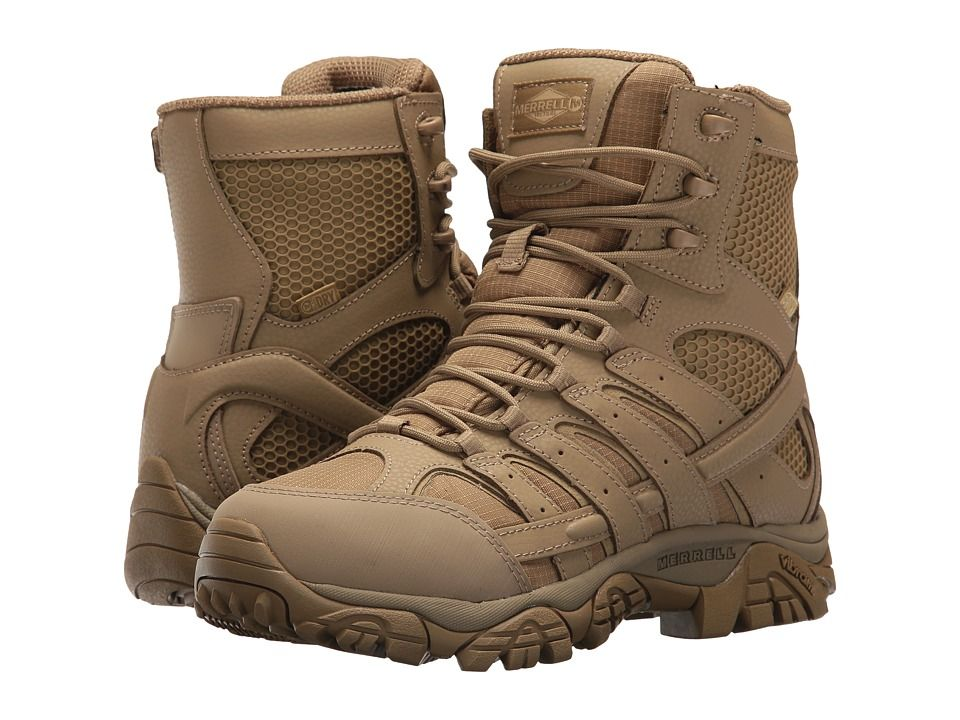 5e44989c431 Merrell Work Moab 2 8 Tactical Waterproof Women's Lace-up Boots Coyote