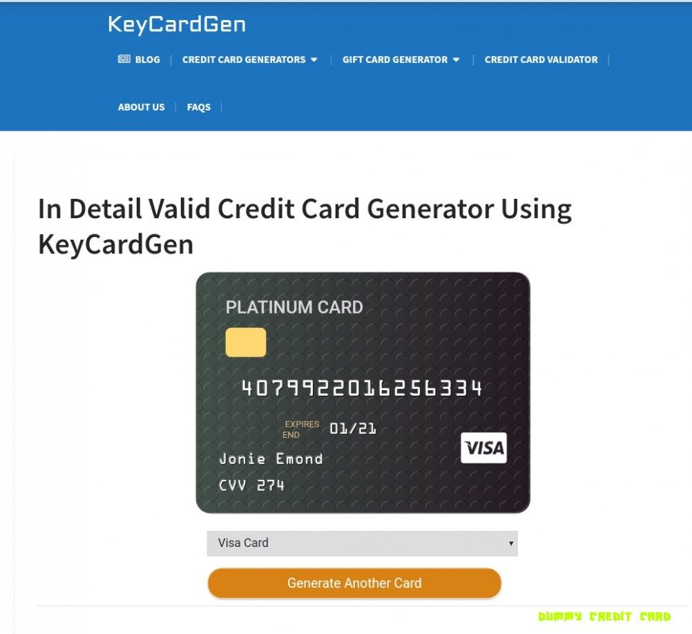 Pin By Ricky Johnson Jr On Credit Card Numbers In 2020 Virtual Credit Card Free Credit Card Visa Card