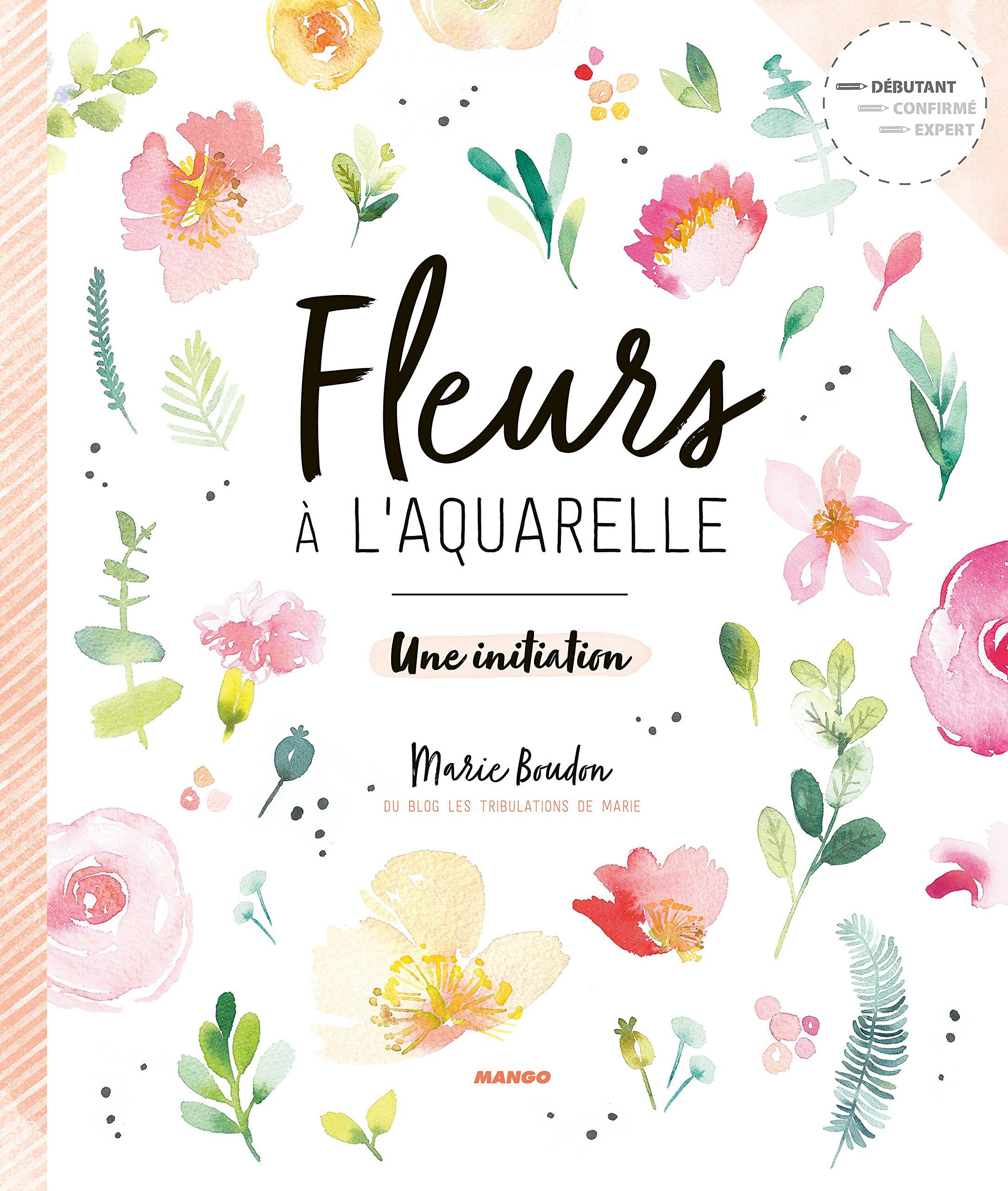 Fleurs A L Aquarelle De Marie Boudon Book Lovers Gifts Paper