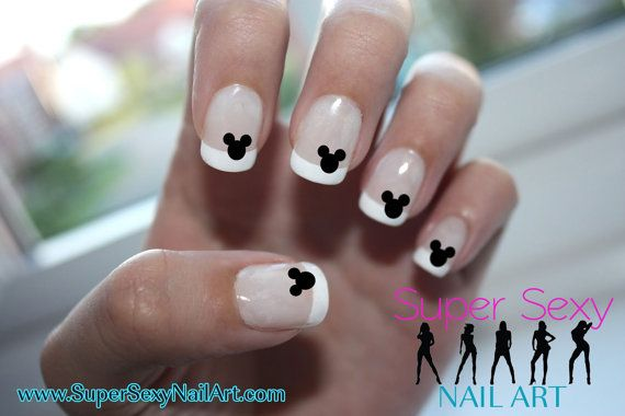 Mickey Mouse Ears Disney Nail Art Water Transfer Decal Many Colors