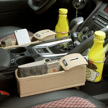 Car Storage Bag Box Money Pot Beverage Holder Car Seat Pocket