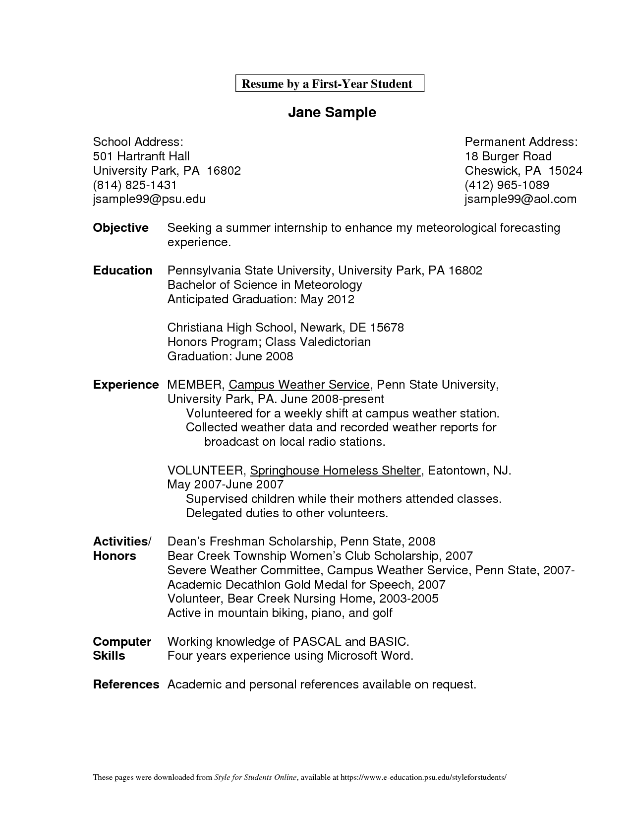 Handyman Resume Objective Samples Examples Making Money At Home
