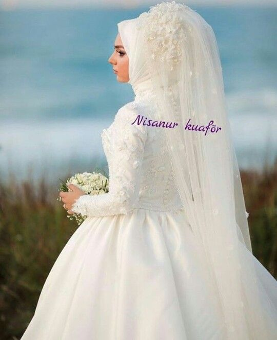 Pin by Nurhayat Sarıgül on tesettür gelinlik | Pinterest | Wedding ...