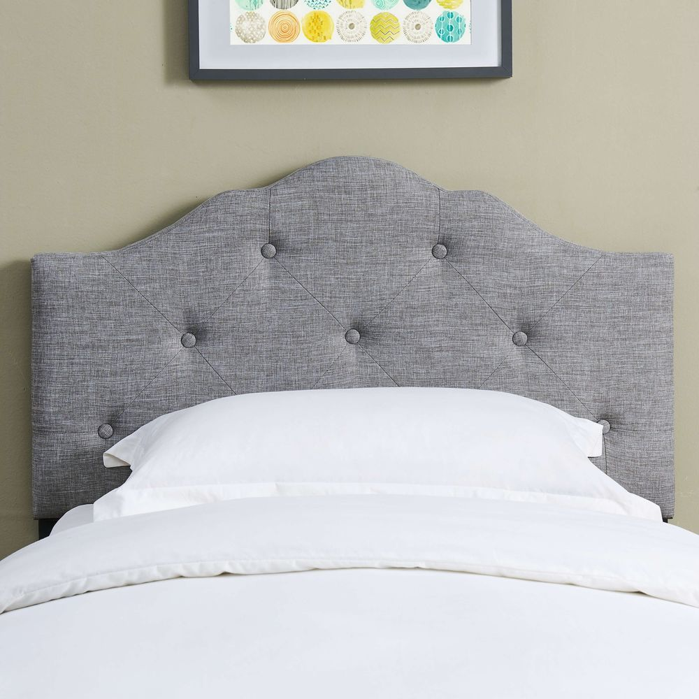 ICYMI New Upholstered Minimal Tufting Rounded Headboard