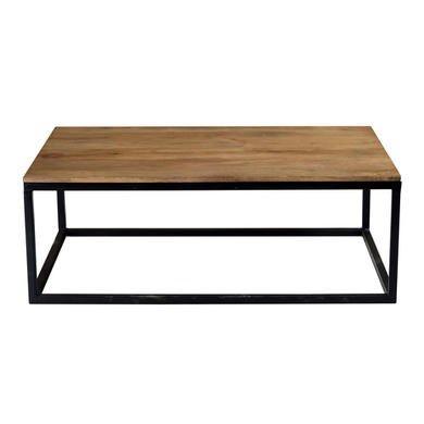 74c4f1bc0235e Suri Modern Industrial Rectangle Coffee Table in Mango Wood   Metal Detail