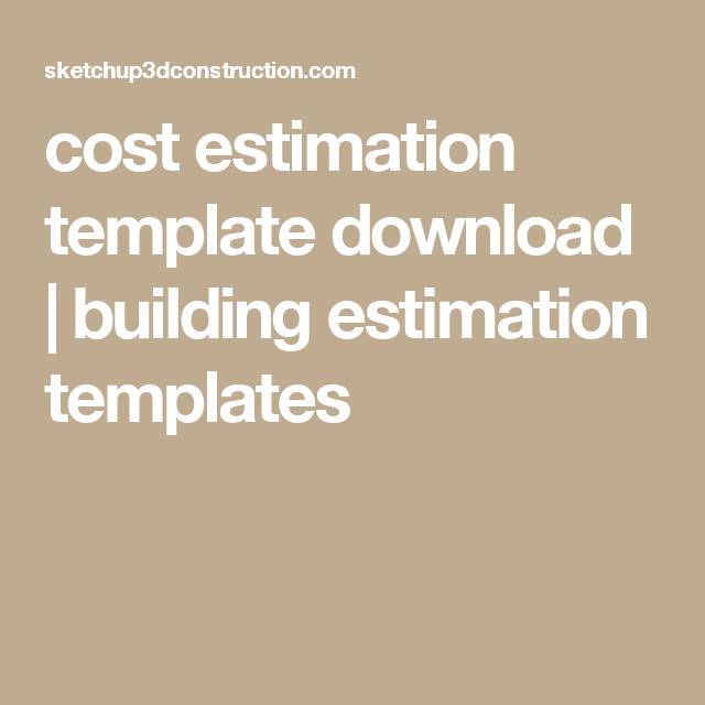 Cost Estimation Template Download  Building Estimation Templates