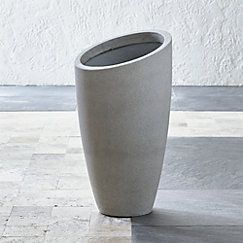 Slant Cement Planters Crate And Barrel Tall Planters 400 x 300