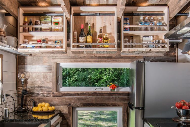 This Is The Most Luxurious Tiny House We Ve Ever Seen Alpha Tiny House Tiny House Kitchen Tiny House Storage