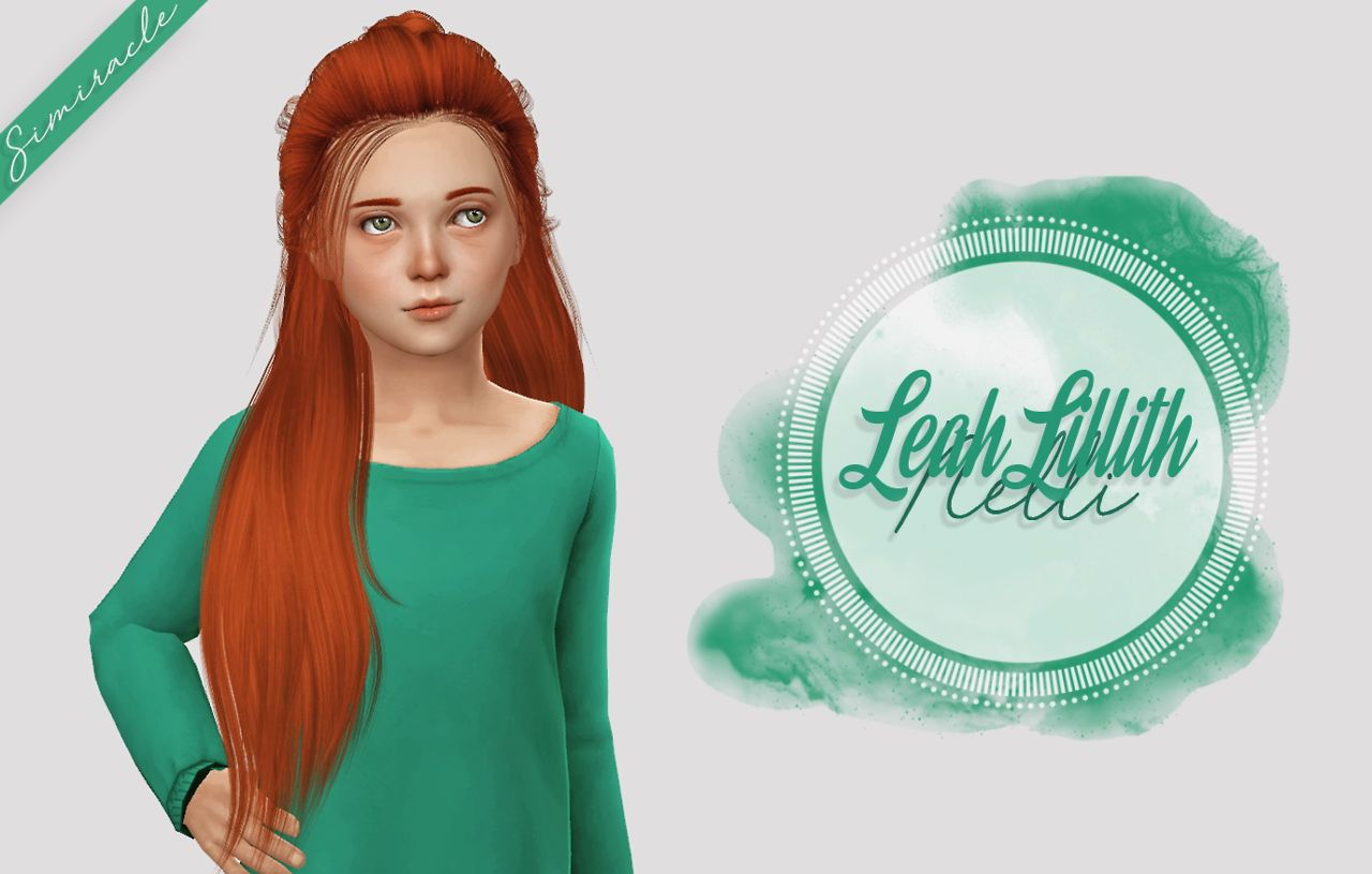 Simiracle Leahlillith S Nelli Hair Retextured Kids Version Sims