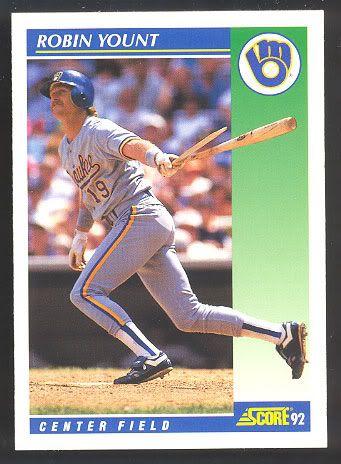 Baseball Cards Worth Money 1992 Score Robin Yount 525 Robin