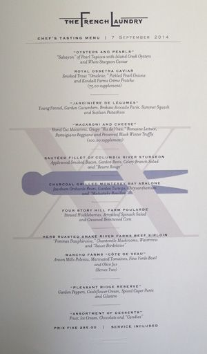 BLOG That Time I Grubbed at the French Laundry - Chefu0027s Tasting - french menu
