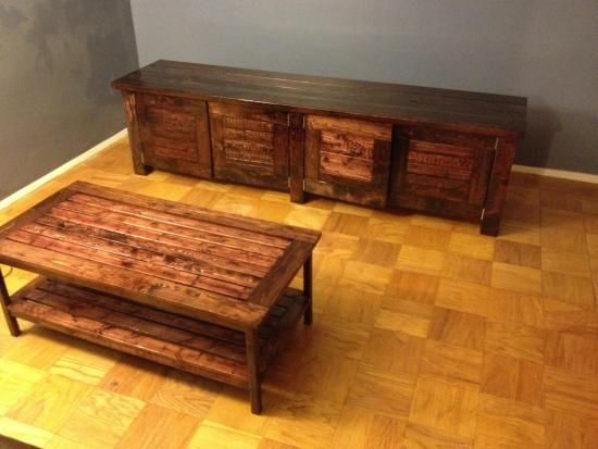 Builders Showcase: Coffee Table and Entertainment Center | The ...