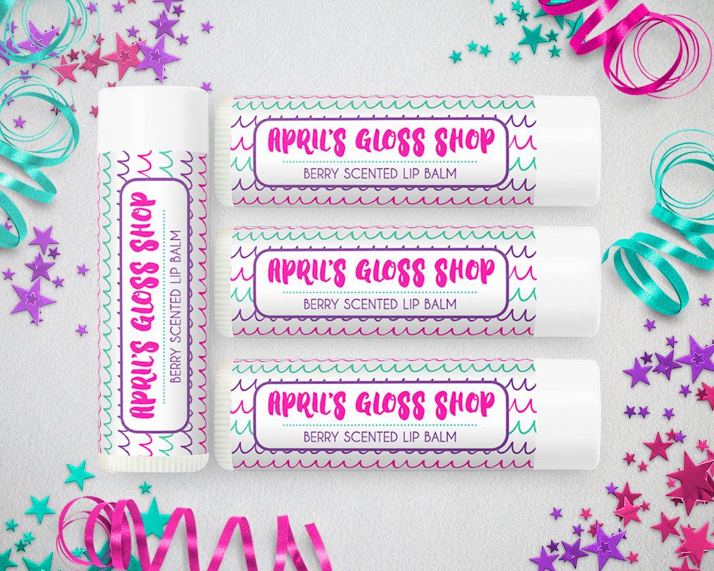 This is a graphic of Handy Printable Lip Balm Labels
