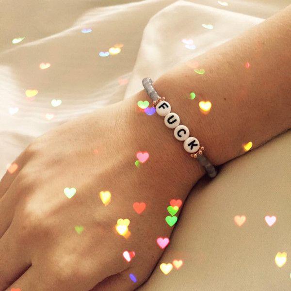 Armbänder - F*@ck - Armband- zeig´ was du denkst! - ein Designerstück von sucre-des-amours bei DaWanda