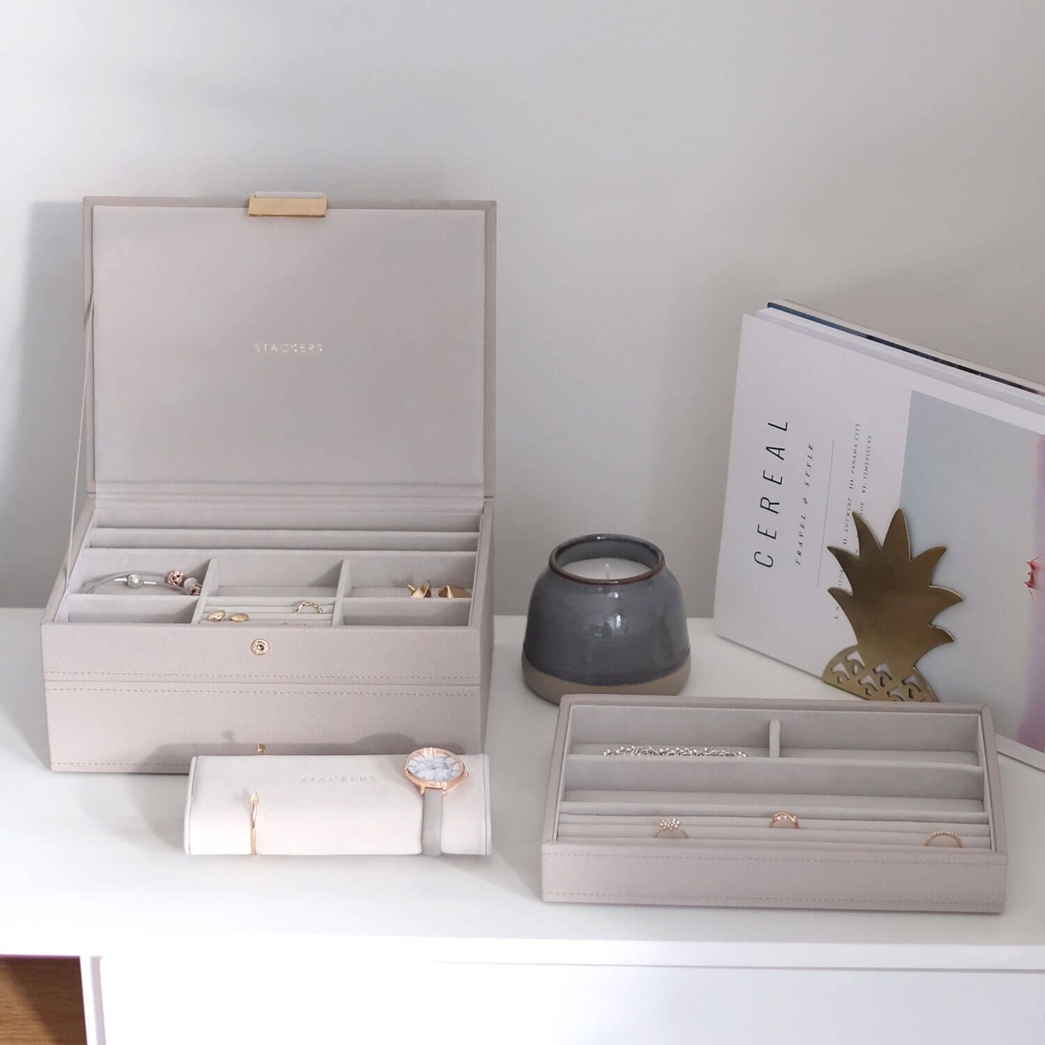 Stackers Classic Size Jewellery Boxes TAUPE or Design Your Own Set FREE DELIVERY