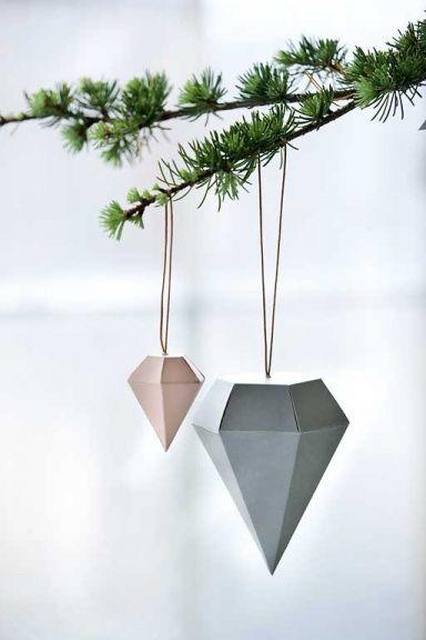 weihnachtsbaumschmuck ideen aus holz glas papier. Black Bedroom Furniture Sets. Home Design Ideas