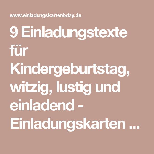 9 einladungstexte für kindergeburtstag, witzig, lustig und, Einladung
