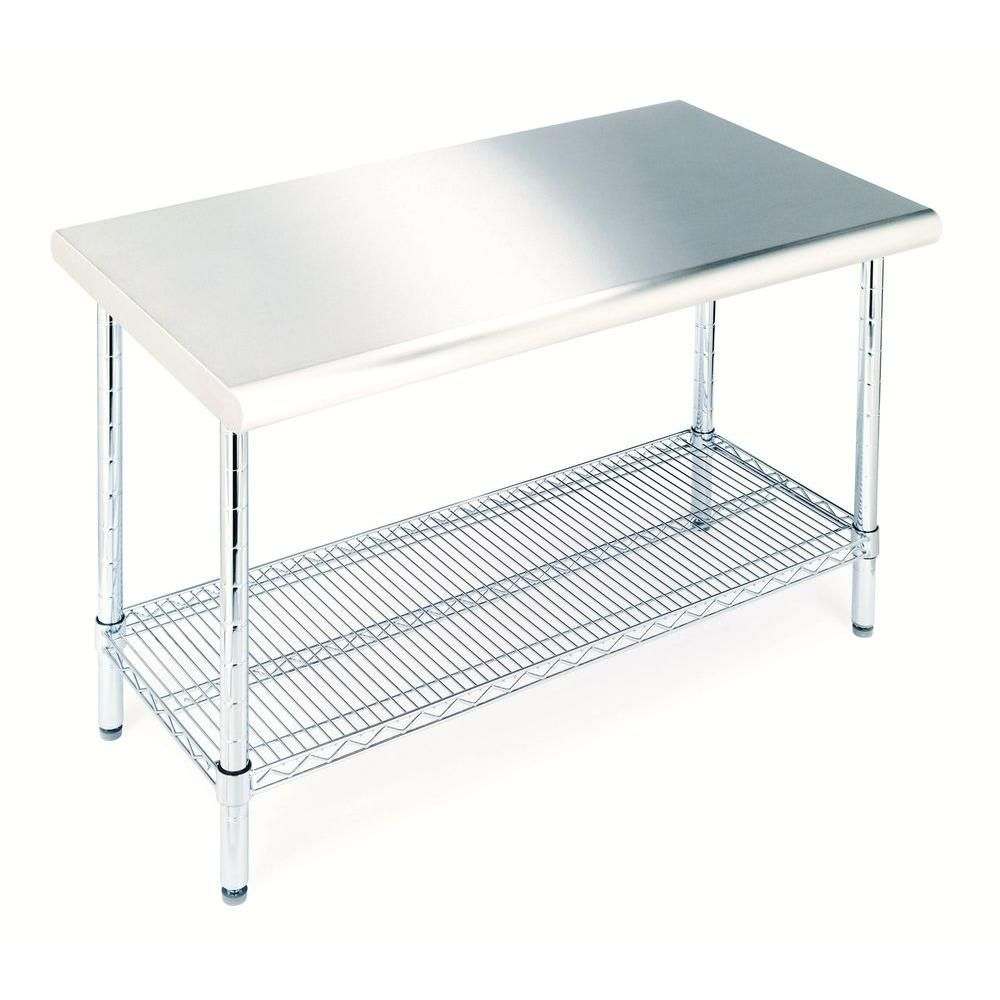 D Stainless Steel Kitchen Worktable SHE18308 At The Home Depot