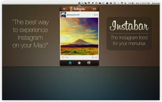 #Instabar , accede a tu cuenta de #Instagram desde la barra de menú
