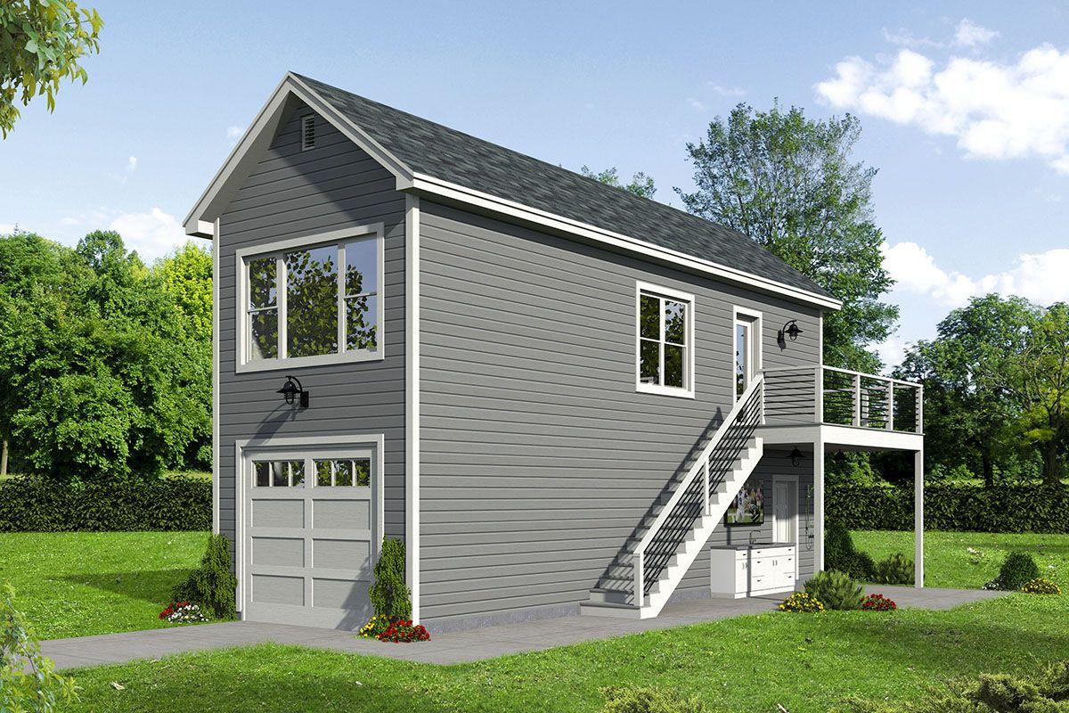Plan 68610vr Narrow Garage Plan With Upstairs Apartment Apartment Plans Garage House Plans Garage Apartments