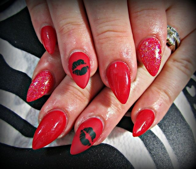 Day 35: Kiss Kiss Nail Art | Kiss nails, Nails magazine and Art nails