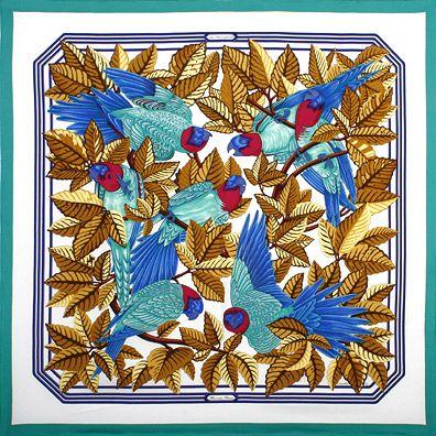 Couleurs variées qualité stable hot-vente plus récent luxury-scarves.com 'Les Perroquets', Joachim Metz. 1984 ...