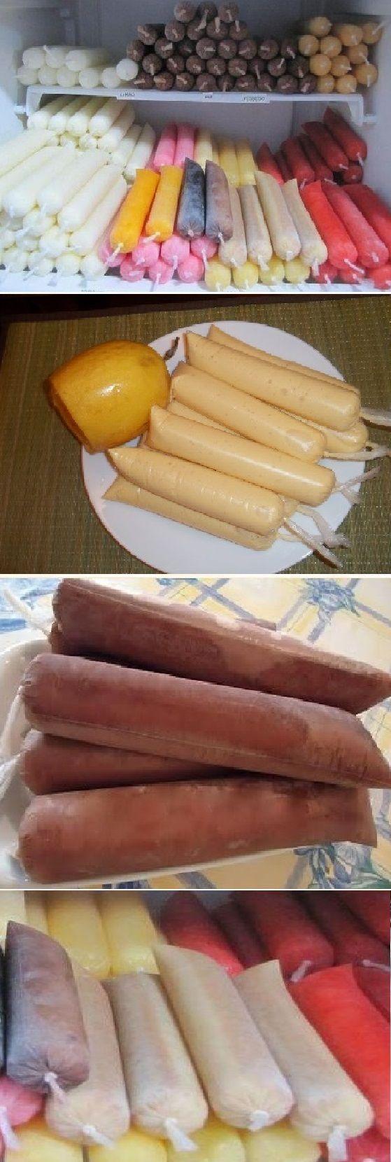 recetas de helados de agua con frutas