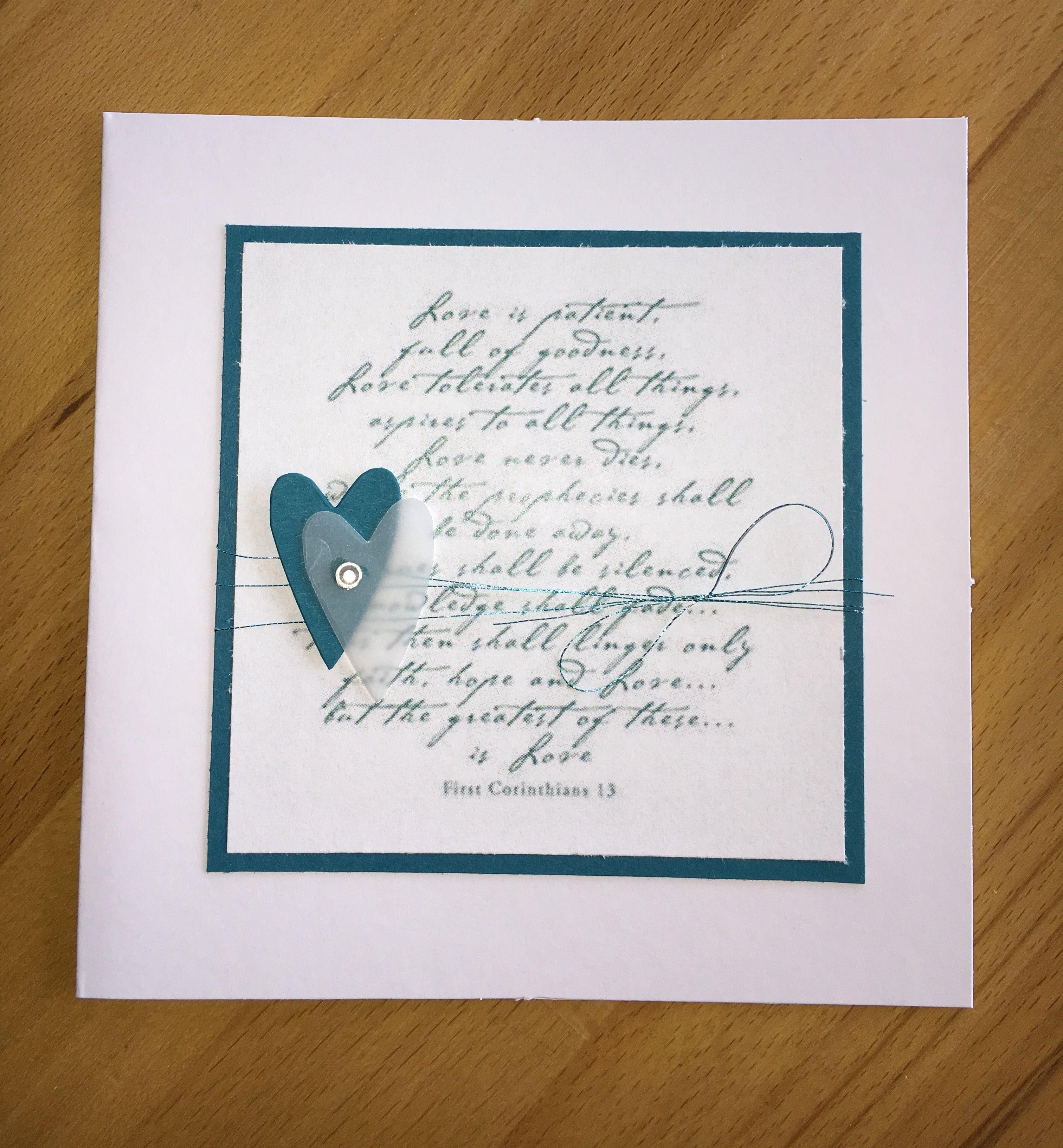 Hochzeitskarte love is patien