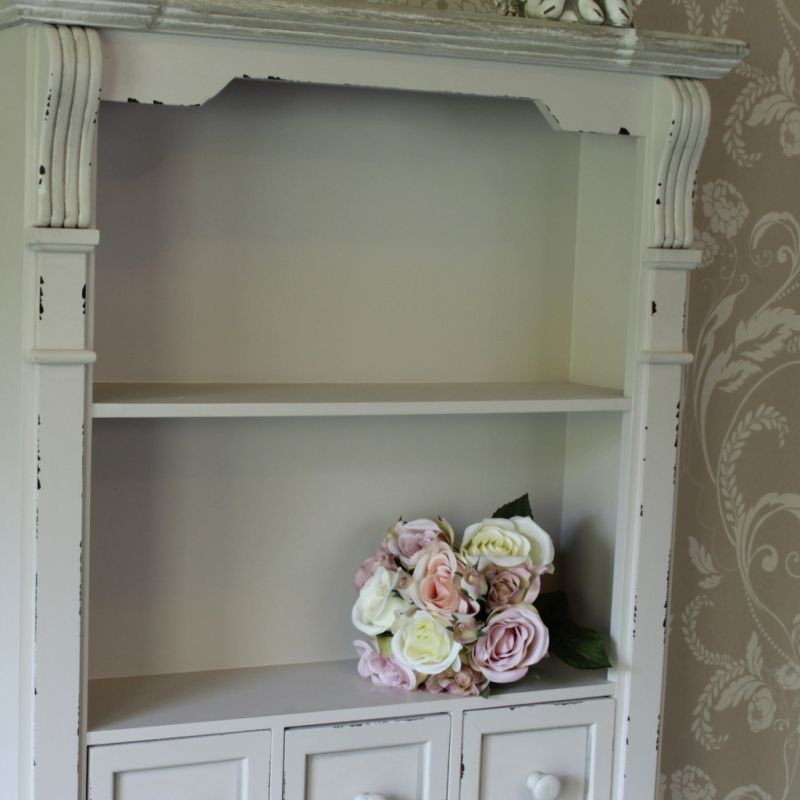 Cream Shelf Unit With Drawers Lyon Range Shabby Chic Style Wall Shelves Perfect Cottage Storage Or Display Ideal For Bathroom