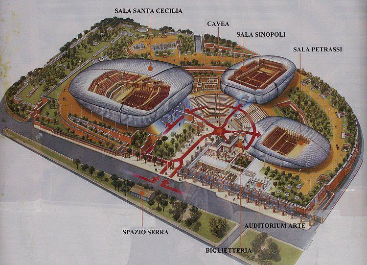 Auditorium parco della musica rome 2002 renzo piano for Auditorium parco della musica sala santa cecilia