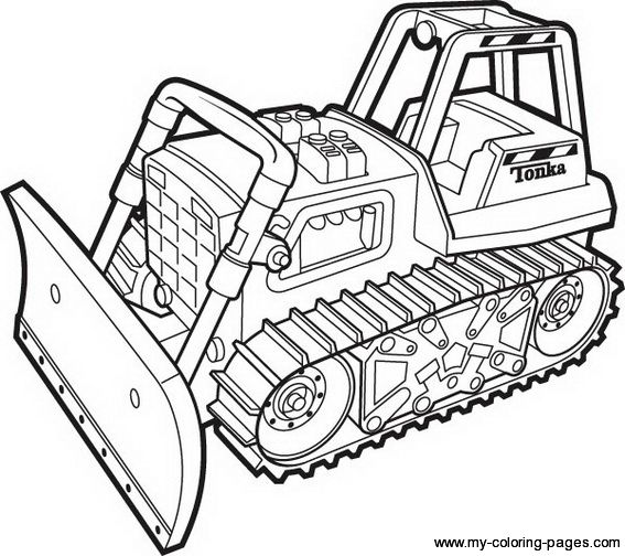 Bulldozer Coloring Page Printable For Free Tractor Coloring Pages Coloring Books Truck Coloring Pages