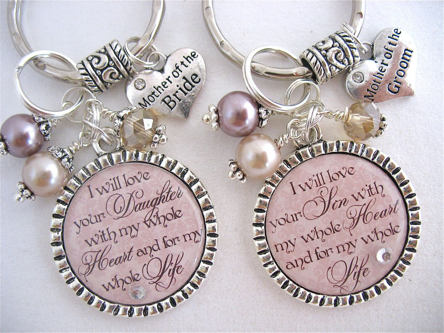 Handmade Wedding Gifts For Bride And Groom: Personalized Wedding Jewelry For MOTHER Of The BRIDE