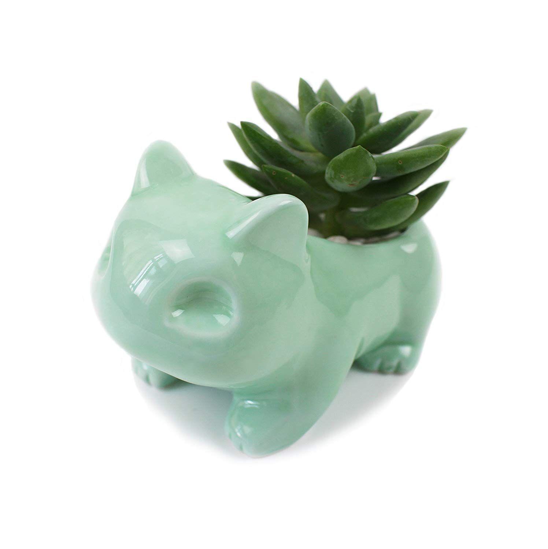 Pokemon Go Pikachu Bulbasaur Porcelain Ceramic Art Plants Vase Pot Home Decor