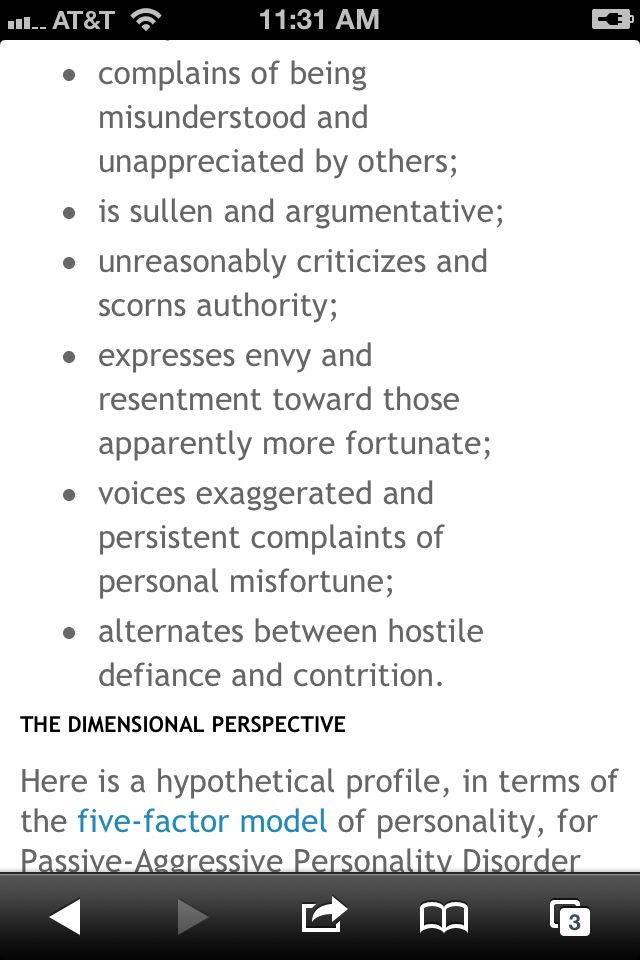 Passive-aggressive behavior is usually the sign of a sociopath and