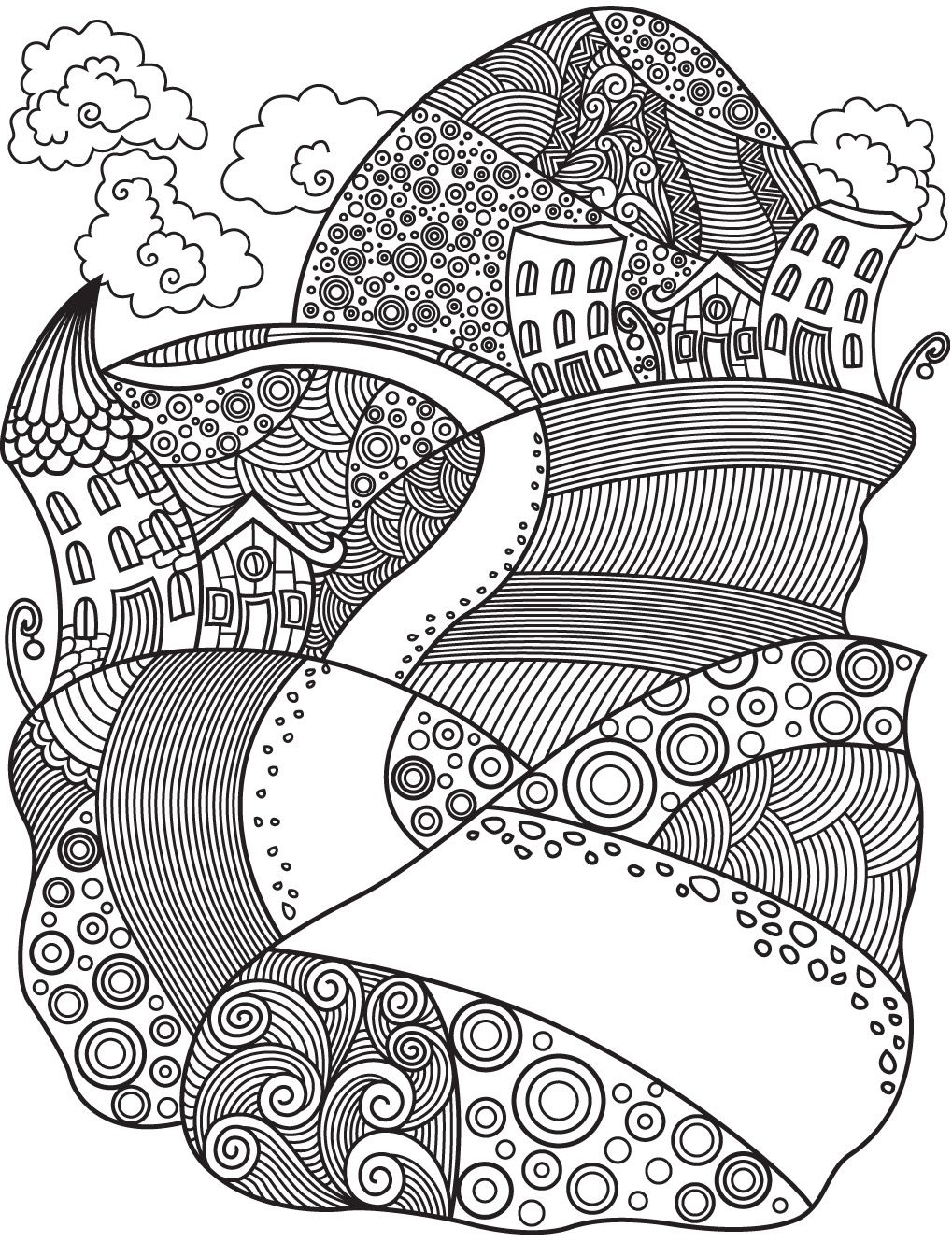 Landscapes To Color Colorish Free Coloring App For Adults By Goodsofttech Coloring Apps Coloring Pages Free Coloring