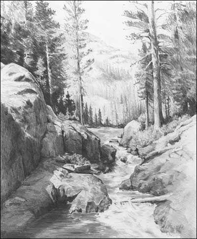 Fabelhaft Landschaften - Graphit Bleistift-Zeichnungen von Diane Wright &ON_91