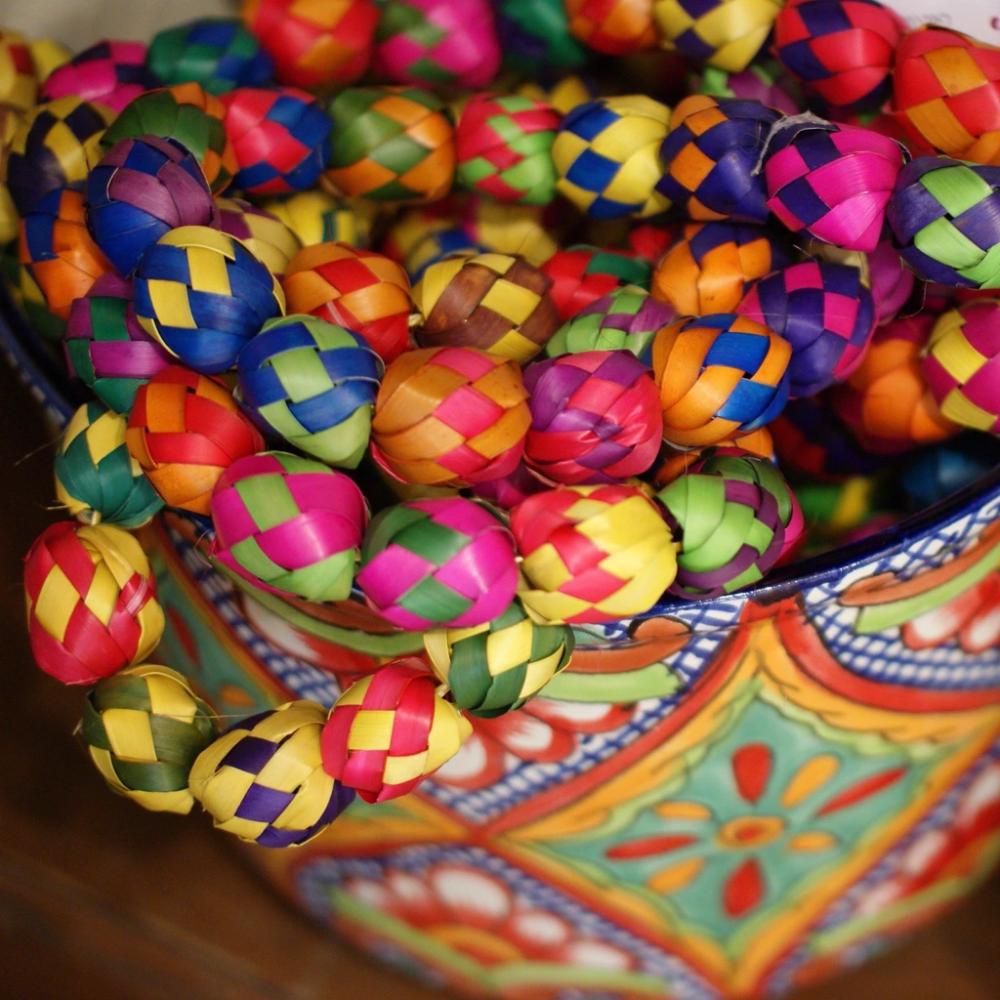 Decorative Woven Palma Garland Loop   Mexican christmas ...