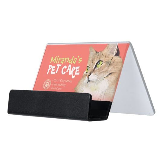 Pet Care Sitting Bathing and Grooming Beauty Salon Desk Business Card Holder