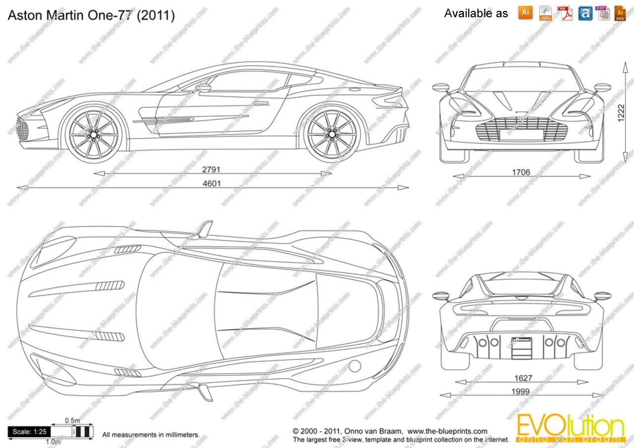 Aston Martin One Blueprint Database Pinterest Aston