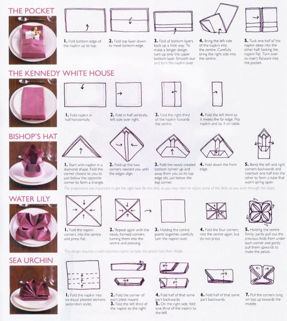 Different Ways To Fold A Napkin