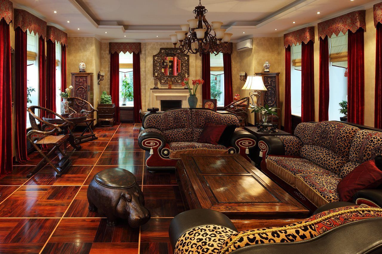 Contemporary African Safari Decor Living Room Ideas