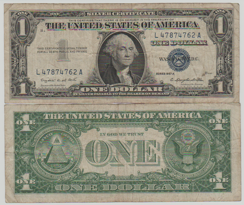 1957 $1 SILVER CERTIFICATE WITH ROYAL BLUE SEAL. GET YOURS TODAY ...