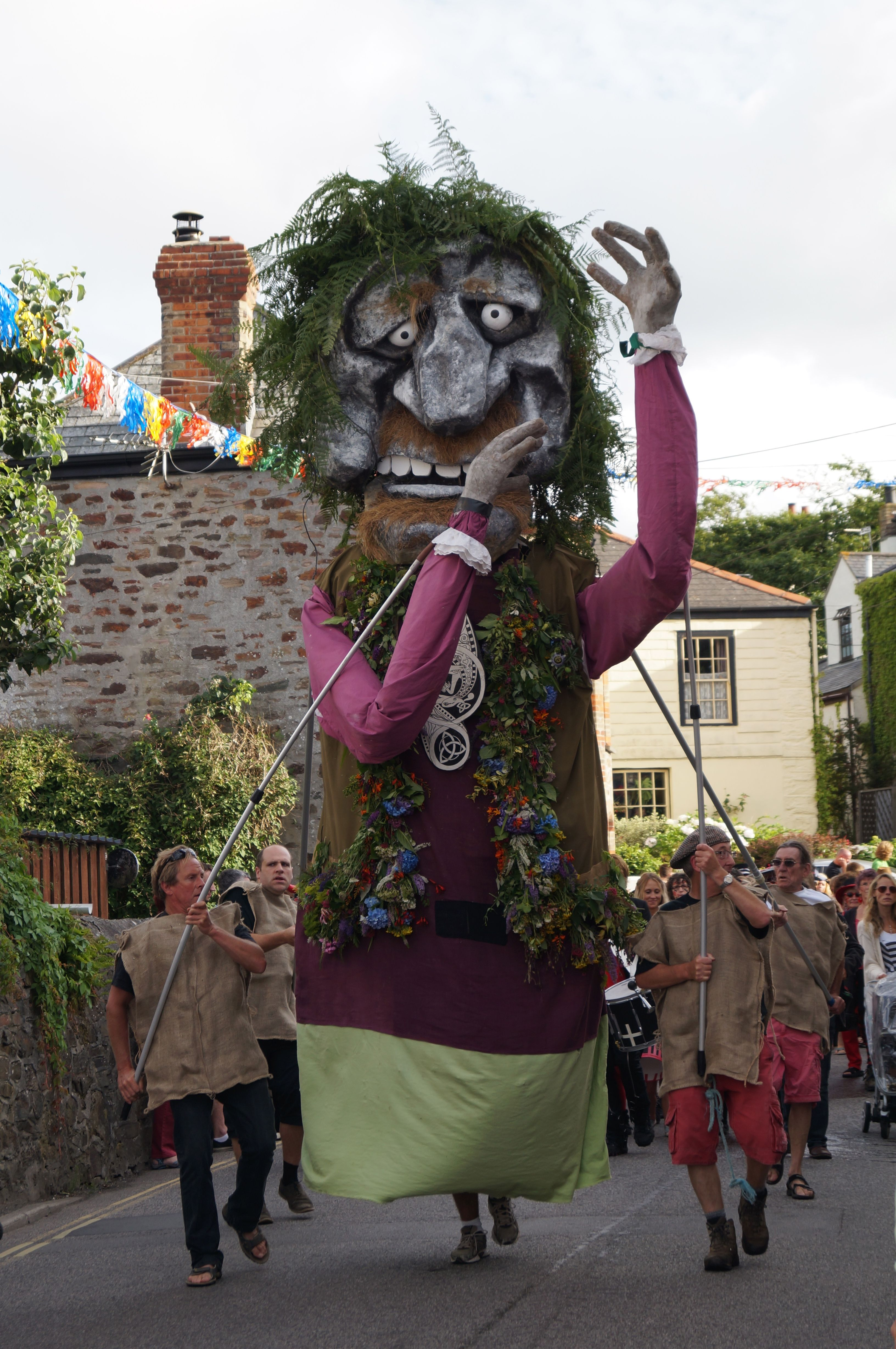 The Bolster Giant Puppet, St Agnes Carnival, in Cornwall 2013. Photo taken by Tracey-Jane Anderson