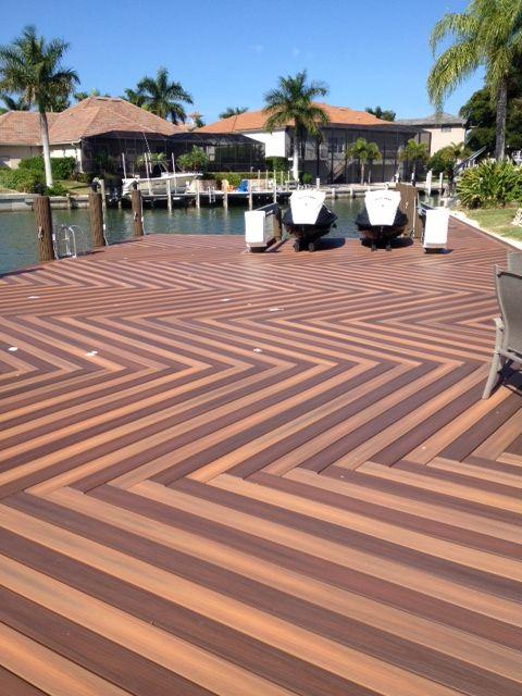 Herringbone Deck Pattern From Fiberon Composites Garden