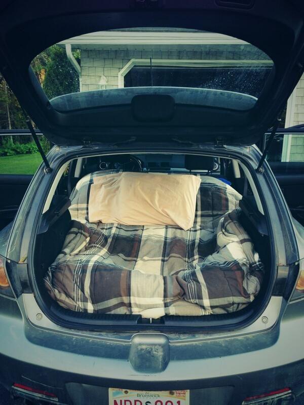 Mazda 3 Car Camping