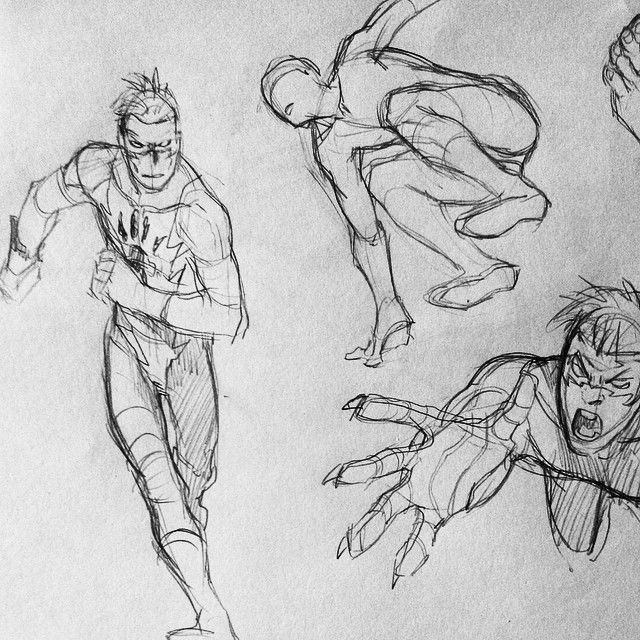 "Gefällt 971 Mal, 3 Kommentare - @xafeelgood auf Instagram: ""#action #pose #art #sketch"", running pose, jumping pose"